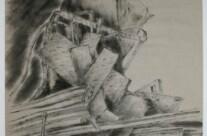 """""""Schrottplatz"""", Tusche auf Papier, 2000"""