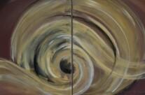 o.T., Acryl auf Leinwand, ca. 120 x 80cm, 2014